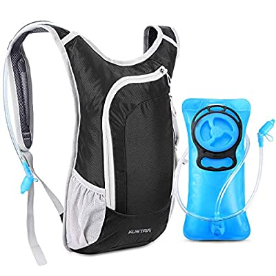 KUSTAR Hydration Pack,Hydration Backpack with 2L Leak-Proof Water Bladder BPA Free - Lightweight Water Pack for Running Cycling Hiking Climbing