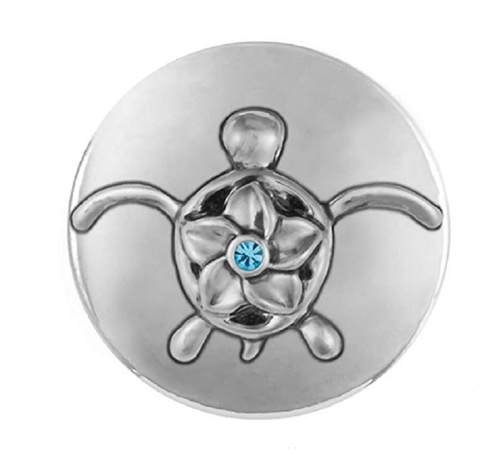 Ginger Snaps Flower Sea Turtle SN21-41 (Standard Size) Interchangeable Jewelry Accessories