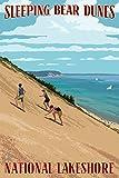 Michigan, Sleeping Bear Dunes Travel Poster (9x12 Digitally-Printed Wall Art)