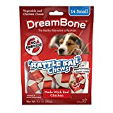 DreamBone RattleBall Small Chews 14 Count, Rawhide-Free Chews For Dogs, With Real Chicken Treats Inside