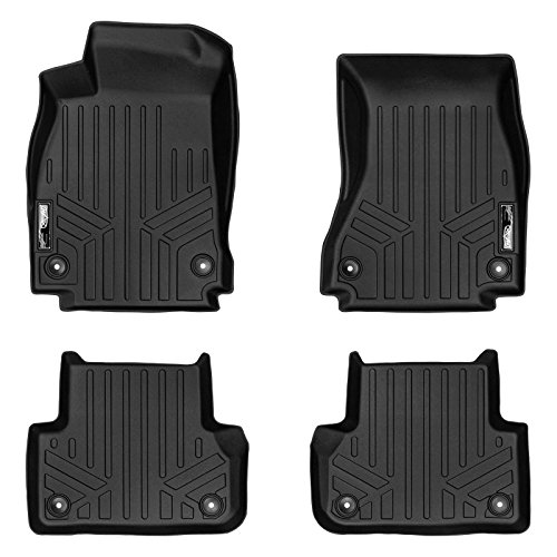 MAXLINER Floor Mats 2 Row Liner Set Black for 2017-2018 Audi A4 / S4 / A4 All-Road
