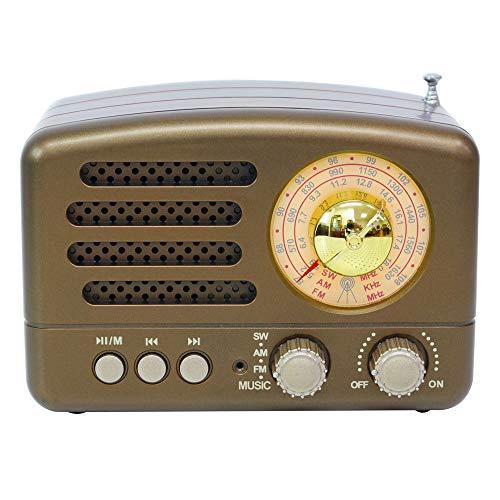 M-160BT USB BT Radio portátil pequeña Altavoz BT portátil Radio Retro Radio Vintage