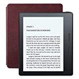 Kindle Oasis E-reader with Leather Charging Cover - Merlot, 6' High-Resolution Display (300 ppi), Wi-Fi, Built-In Audible - Includes Special Offers (Previous Generation - 8th)