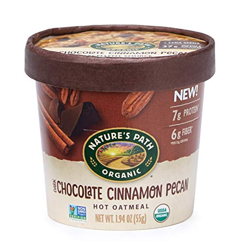 Nature's Path Organic Oatmeal Cup, Dark Chocolate Cinnamon Pecan, 1.94 Oz Container (Pack of 12)