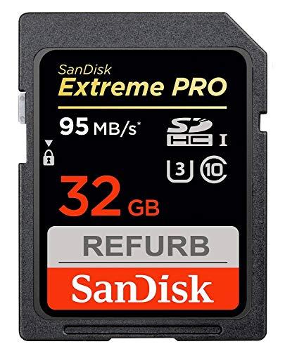 SanDisk, scheda di memoria Extreme Pro SDHC da 32 GB, classe 10, fino a 95 MB/s di lettura, rinnovata