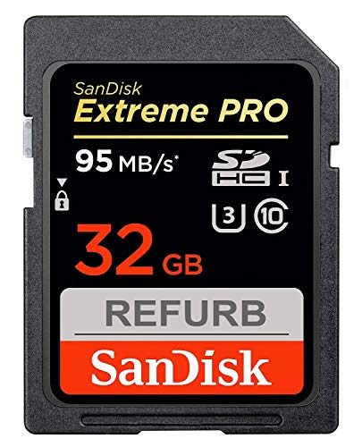 SanDisk Extreme Pro SDHC 32GB Class 10 Speicherkarte (bis zu 95MB/s lesen) (Generalüberholt)