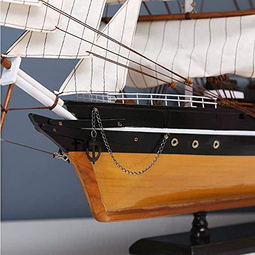 90 cm Hoelzern Modellschiff Nordic Home Decoration Innen Holz Handwerk Kreative Sea Artandenken 1yess