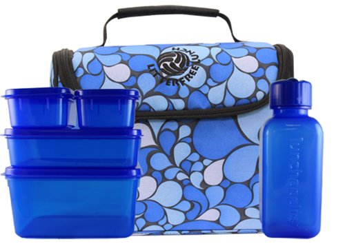 New Wave Enviro Products Lunchopolis Lunch Box (Blue)