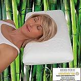 daydream Kopfkissen aus Memory Foam mit Bambus-Bezug - das ergonomische Bett- und Schlafkissen , 65...