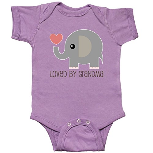 inktastic Loved by Grandma Cute Grandchild Infant Creeper Newborn Lavender