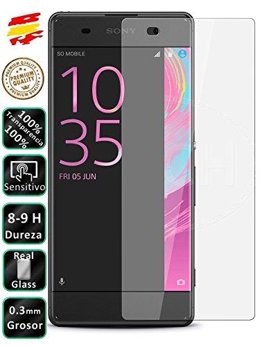 Movilrey Protector para Sony Ericsson Xperia XA Cristal Templado de Pantalla Vidrio 9H para movil