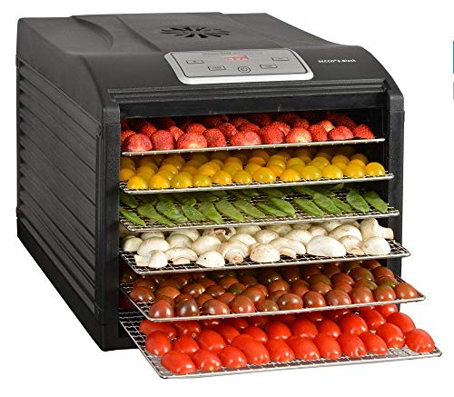 Kitchen chef - secco 6 black - D'shydrateur fruits et l'gumes 6 plateaux 500w