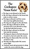 Fridge Magnets Cockapoo Gift - House Rules - Large Fun flexible size 16cms x 10 cms (approx. 6' x4')