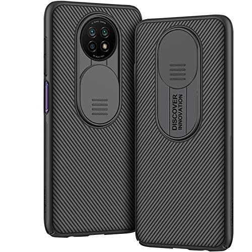 AROYI Funda Compatible con Xiaomi Redmi Note 9T 5G, Tapa Deslizante para la cámara - Negro