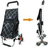 YHLZ Aleación de aluminio portátil Compras plana Paso de rueda telas de uso doméstico bolsas de víveres cesta de la compra plegable de equipaje pequeño carro de remolque seis ruedas impermeable de tel