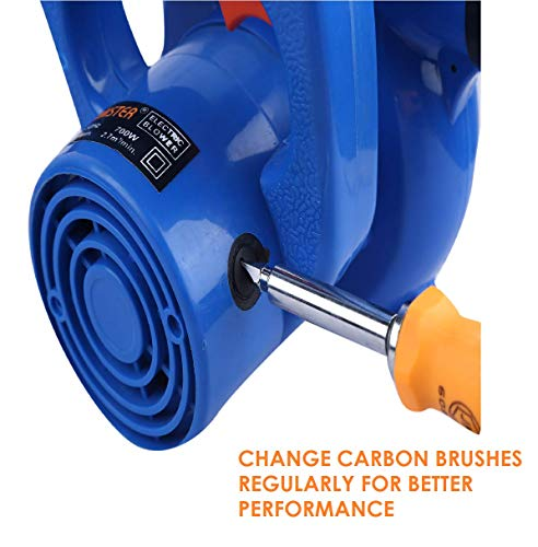 Jakmister (ANTI-VIBRATION) Unbreakable Plastic 700 W 16000RPM 90 Miles/Hour Electric Air Blower Dust PC Cleaner Forward Curved Air Blower,Blue