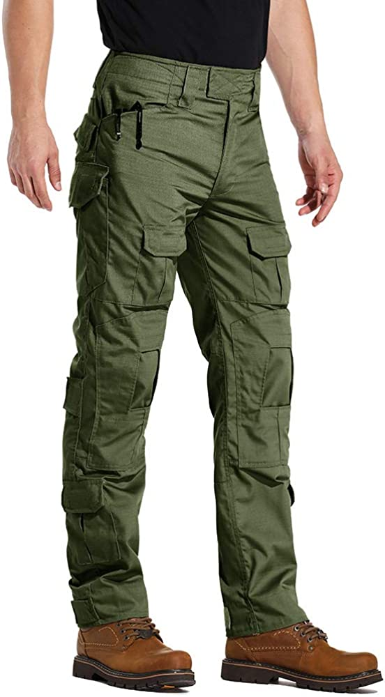KOCTHOMY Mens Sports Hiking Pant Outdoor Lightweight Waterproof Slim Fit Tactical Cargo Pants