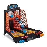 Relaxdays Table de Basket-Ball de Jeu, Fun, Dessus de Table de Jeu, 3Ans et Up, Dimensions 22.2x 28x...