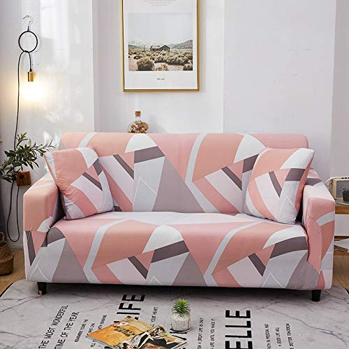 PPMP Elastic Stretch Sofabezug für Wohnzimmer Universal Stuhl Schonbezüge Schnitt Couchbezug L-Form Sesselbezug A2 3-Sitzer