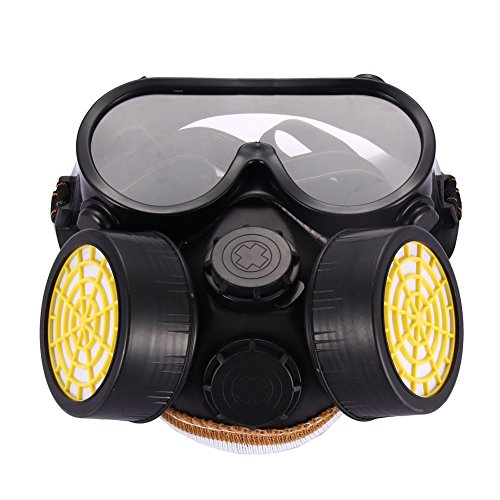 YouN Industrial Gas Chemical Anti-Dust Paint Respirator Mask Glasses Goggles Set