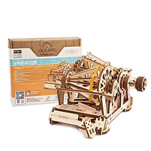 UGEARS STEM Lab Puzzle 3D - Modelo de Variomatic maquetas para montar - único maquetas madera puzzles 3D incluye aplicación móvil - Puzzle madera 3D - maquetas para construir adultos y niños 8+
