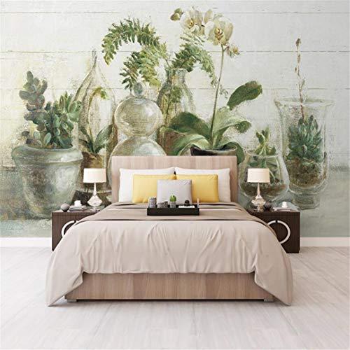 3D behang vlies mediterrane orchidee vaas bloemen blik in vaas woonkamer TV achtergrond behang sofa behang zonder oplossing grote grootte wandbekleding 300cm*210cm