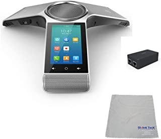 Global Teck Bundle of Yealink CP960 Conference Phone Skype for Business | Office 365 Optima HD IP Conference Phone & Yealink PoE Injector Power Supply (CP960 Skype for Business)