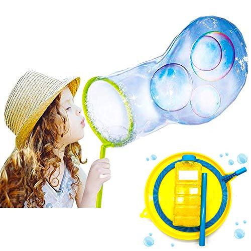 Guilty Gadgets Giant Bubble Wand Fun Amazing Kit Magic Enormous Huge Bubbles Gift Outdoor Garden Toy