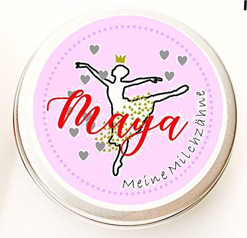 Zahndose mit Namen - Milchzahndose mit Namen Mädchen - Zahndose für Milchzähne (Prinzessin mit Namen)