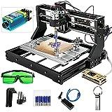 VEVOR Grabador Láser CNC 3018 Pro CNC 3018 10000U 15W 3 Ejes Control GRBL CNC Máquina de Grabado Láser Grabador Láser