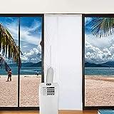 ASANMU Cubierta Aislante Puerta Aire Acondicionado, 90x210CM Aislamiento de Puerta para Aire Acondicionado Móvil y Secadora, para Puertas Salida de Aire Acondicionado Portátil, Parada de Aire Caliente