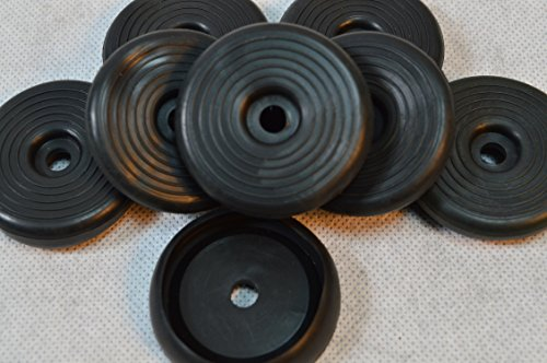 8 X Gummi Fußkappe Standfläche: ca. 45 mm (4,5 cm), Ø Öffnung (Tisch oder Stuhlbein): ca.35 mm (3,5 cm) für Biergartenstuhl/Tisch Mainau/Peru u.a. rund schwarz Tisch Stuhl Bank Biergarten