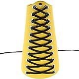 WFZ17Unisex Kunstleder Gauntlet Armband breit armschutzplatte Arm Armor Manschette Unterarmschoner, gelb, Einheitsgröße