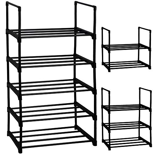 Shoe Rack, Sturdy Metal Shoe Rack Organizer,Narrow Shoe...