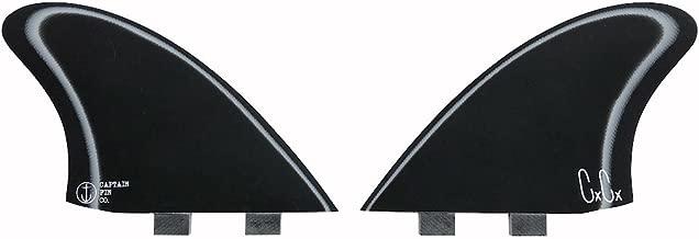 Captain Fin Co. Chris Christenson Keel Especial Surfboard Fins - 2 Fin Set - Twin Tab - Black/White