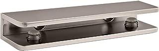 TroySys S3SSC-1100BSN Brushed Nickel Rectangular Glass Shelf Bracket
