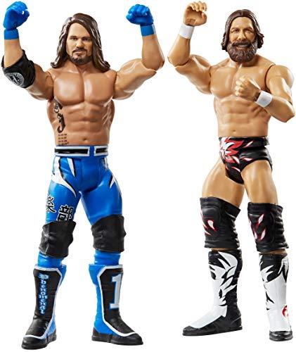 WWE - Pack 2 figuras de acción luchadores AJ Styles vs Daniel Bryan con...