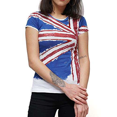 Londen Souvenir Womens Tops Dames T Shirts Glitter Stone Tee Shirts Londen Pictogrammen Super Kwaliteit Wit en Zwart