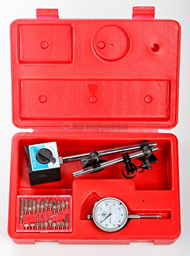 Dial Indicator Kit with Magnetic Base & 22 pc.Pointer for setting Table Saw blades, Shaper Cutters and other Woodworking Tooling