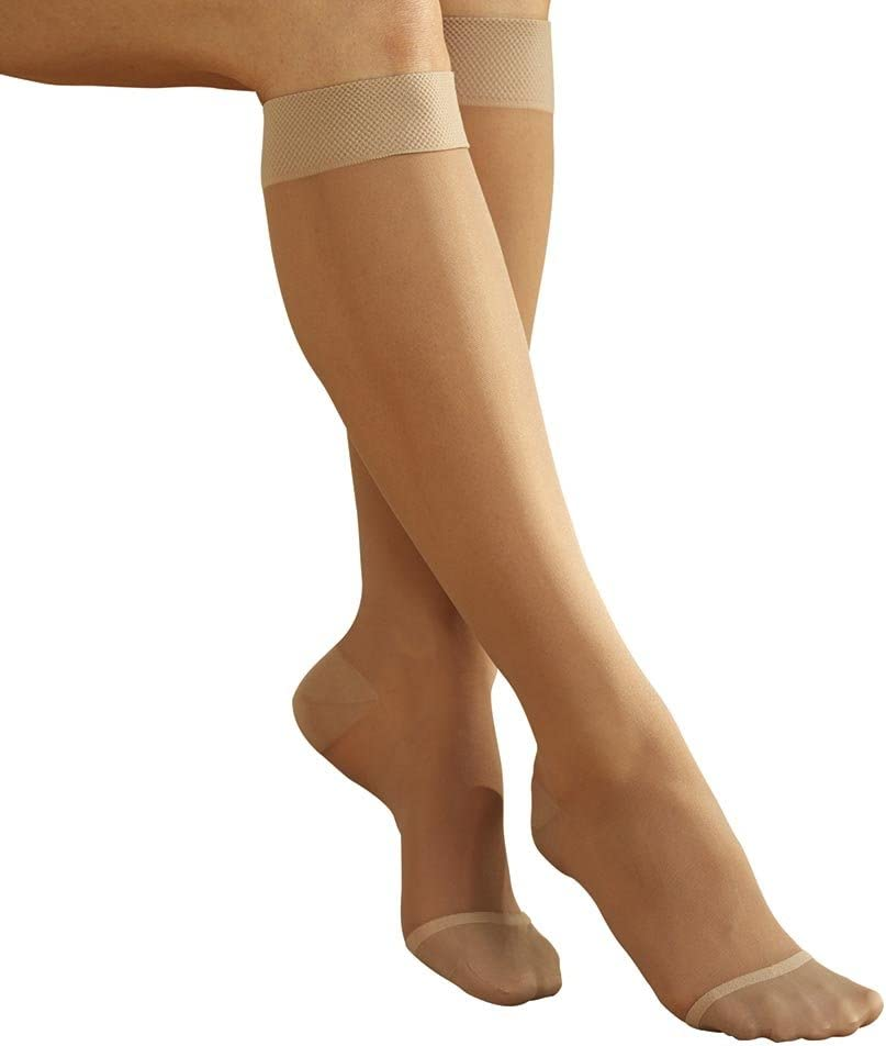 Women's Full Calf Firm Compression Sheer Under blast sales Therapeutic Limited time for free shipping Knee High S