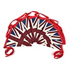 Vintage Style Double Sided Union Jack Festival Bunting - 100% Cotton Bunting, 5 Meters