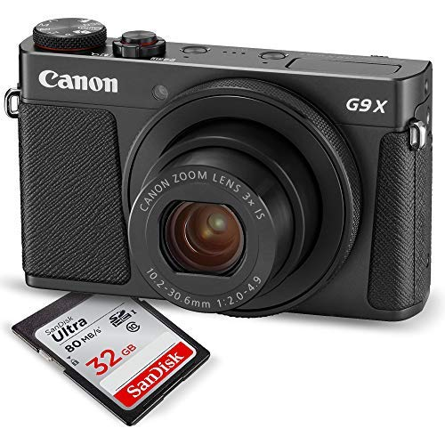 Canon PowerShot G9 X Mark II Digital Camera (Black) W/ 32GB SD Card, and Basic Accessory Bundle