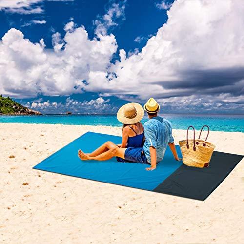 140x150 cm Manta de Picnic Impermeable Manta de Camping Plegable, Resistente a la Arena, Alfombras de Playa para Camping, Jardín, Parque