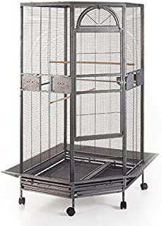 """New Large Corner Parrot Bird Wrought Iron Cage - r30"""" X 64""""H - 4 Colors Available"""