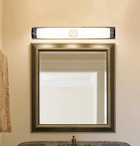 YU-K Antiek Edison Industriële Stijl wandlamp Spiegel Voorzijde Lamp Antiek Glas Licht Badkamer Wandlampen Badkamer Spiegelkasten Vanity Licht LED wandlamp, Zwart Koper, 50cm14w