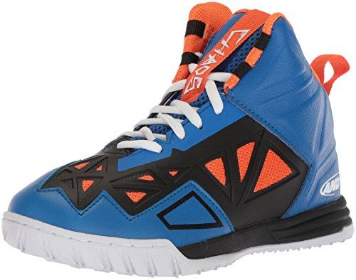 AND 1 Zapato de skate unisex Chaos para niños, azul (Azul Rey/Rojo Naranja/Negro/Blanco), 37 EU