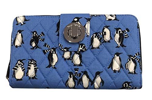 Vera Bradley Turnlock Wallet (Playful Penguins Blue)