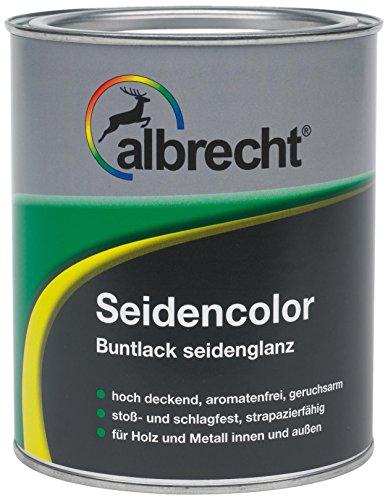 Lackfabrik J. Albrecht GmbH & Co. KG 3400505850900500375 Seidencolor Buntlack seidenglanz 375ml, RAL 9005 tiefschwarz