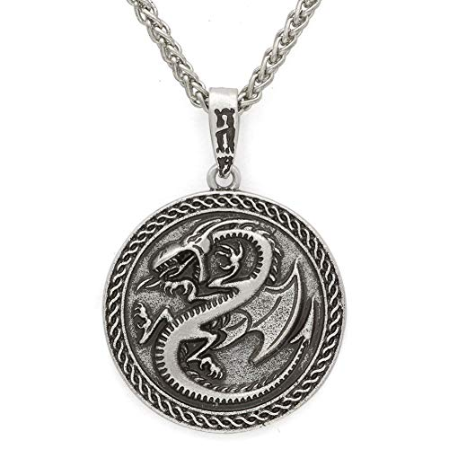 NICEWL Nordische Mythologie Keltischer Drache Anhänger-Wikinger Irland Retro Charm Fashion Amulett,...
