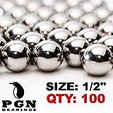 PGN - Slingshot Ammo 1/2' Inch (.50 Caliber) Precision Steel Balls (100 PCS)